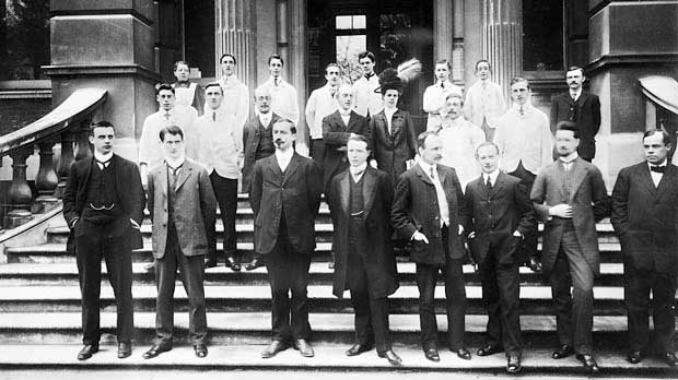 Some of the founding members of Imperial Cancer Research Fund.